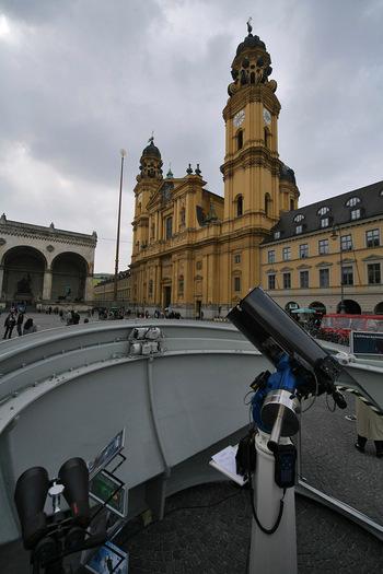 Impressionen von den 100 Stunden Astronomie auf dem Odeonsplatz in München (Bildrechte: M. Rietze, Baader Planetarium)