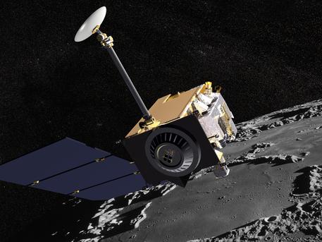 """Am 18. Juni 2009 öffnet sich für die NASA-Mondmission """"Lunar Reconnaissance Orbiter"""" (LRO) das Startfenster. Die Mission soll mit sechs Experimenten die Datengrundlage für zukünftige Forschungen auf dem Mond schaffen."""