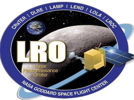 """Missionslogo der NASA-Mondmission """"Lunar Reconnaissance Orbiter"""" (LRO), an der auch deutsche Wissenschaftler aus Berlin und Münster beteiligt sind."""