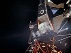 20. Juli 1969. 15 Minuten nach Neil Armstrong verläßt auch Edwin Aldrin die Mondlandefähre.