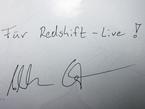 """Ein paar Autogramme hat Alexander Gerst schon geben müssen. """"Ein seltsames Gefühl"""", wie er sagt, denn er habe ja noch nichts geleistet. Redshift-live bekam trotzdem eine persönliche Signatur des neuen deutschen Astronauten."""