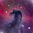 The Horsehead Nebula is a dark cloud of gas and cosmic dust. More than 1000 light years away, it blocks the light of the stars and emission nebulae lying behind it.