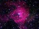 Heavy elements are created during a supernova explosion, enriching interstellar space.