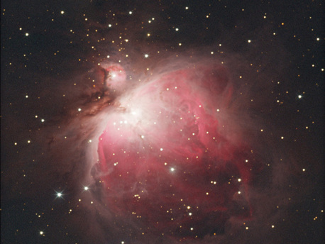 Der berühmte Nebel im Sternbild Orion trägt die Messier-Nummer 42,