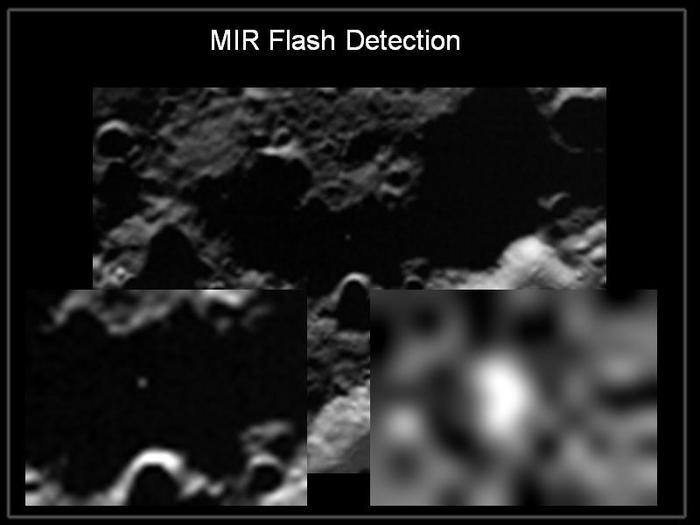 The LCROSS mid-infrared (MIR) Camera detected a sodium flash at Centaur Impact.