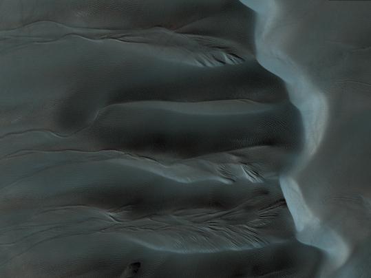 Abflußkanäle im Übergangbereich zwischen Ebenen und Dünenfeld.