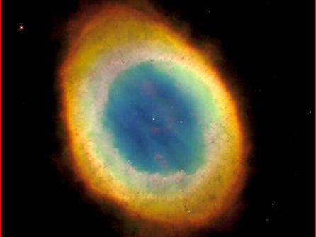 The Ring Nebula in constellation Lyra is also the logo of the Planetarium Software Redshift 7.