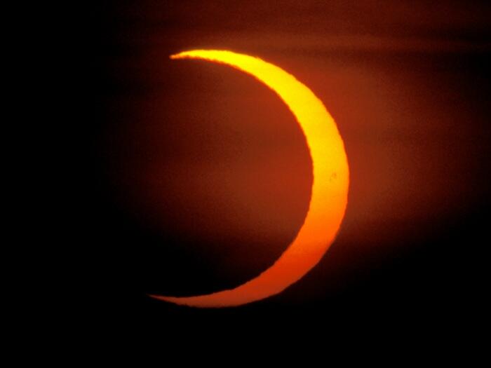 Für weite Teile der Erde ist die ringförmige Sonnenfinsternis nur partiell.