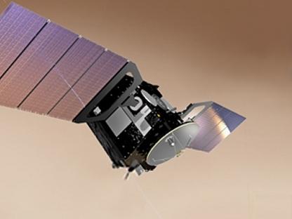 Impresión artística del ExoMars Trace Gas Orbiter
