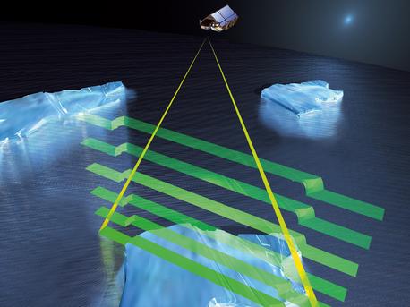 CryoSat-2 midiendo el espesor del hielo oceánico