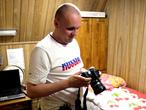 Alexey prueba su cámara