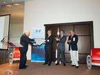 La ceremonia de entrega del AAAF Grand Prix 2010 a Herschel y a Planck