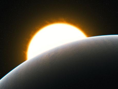 Une planète avec une super-tempête (vue d'artiste)
