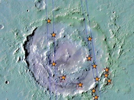 El cráter Lyot y la ubicación de los minerales hidratados