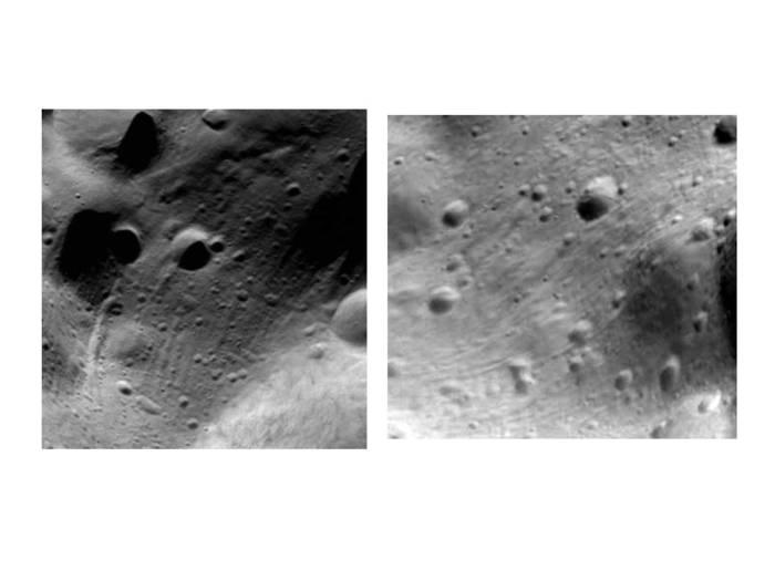 Zoom auf Lutetia während der größten Annäherung.  Zoom-in during closest approach.