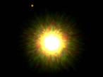 Imagen de Gemini de 1RXS J160929.1-210524 y su compañero Jupiter (izquierda arriba: círculo rojo).
