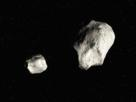 Illustration of a binary asteroid
