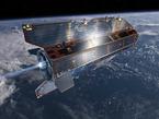Impresión artística del satélite GOCE en órbita