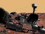 "Ein Marsrover namens ""Curiosity"" (Neugierde)."