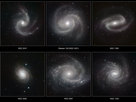 Six spectacular spiral galaxies are seen in a clear new light in pictures from ESO's Very Large Telescope (VLT) at the Paranal Observatory in Chile. The pictures were taken in infrared light, using the impressive power of the HAWK-I camera to help astronomers understand how the remarkable spiral patterns in galaxies form and evolve. From left to right the galaxies are NGC 5247, Messier 100 (NGC 4321), NGC 1300, NGC 4030, NGC 2997 and NGC 1232.
