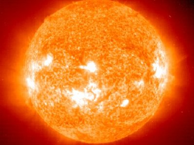 The Sun pictured by the SOHO Extreme ultraviolet Imaging Telescope (EIT) on 28 October 2003.