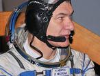 Paolo Nespoli con su traje de vuelo