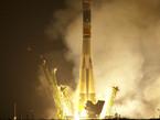 Despegue de Soyuz con el astronauta de la ESA Paolo Nespoli, junto con Dimitri Kondratyev y Catherine Coleman para una misión difícil de 6 meses en la Estación Espacial Internacional (ISS)