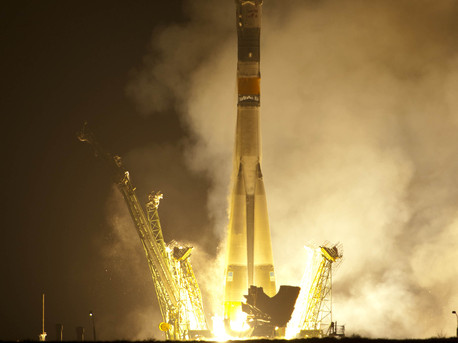 Soyuz lift-off with ESA astronaut Paolo Nespoli together with Dmitri Kondratyev and Catherine Coleman for a challenging 6-month mission on the International Space Station (ISS) as members of Expeditions 26/27. They were launched in the Soyuz TMA-20 spacecraft from Baikonur Cosmodrome in Kazakhstan on 15 December at 20:09 CET.