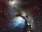 La nébuleuse Messier 78 occupe la scène centrale de cette image prise avec la caméra WFI installée sur le télescope MGP/ESO de 2,2 mètres à l'Observatoire de La Silla au Chili, alors que les étoiles illuminant ce spectacle lumineux se trouvent en arrière plan. Les ricochets de l'éclatante lumière des étoiles sur les particules de poussière de la nébuleuse l'illuminent d'une lumière bleue diffuse. Igor Chekalin a remporté le concours d'astrophotographie « les trésors cachés 2010 » de l'ESO avec son image de ce magnifique objet.