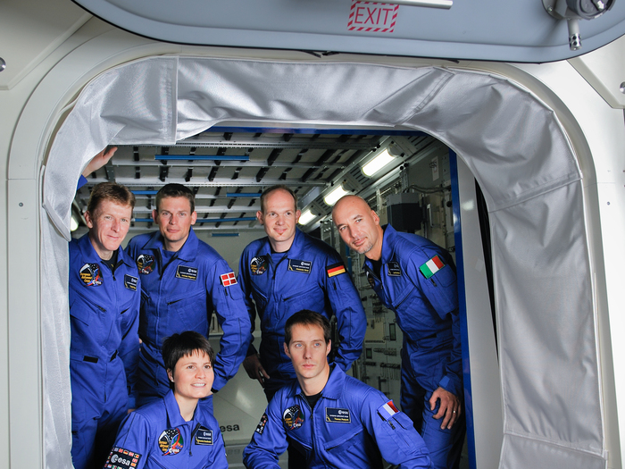 The new recruits join the European Astronaut Corps and start their training to prepare for future missions to the International Space Station, and beyond. From clockwise from top left: Timothy Peake, Andreas Mogensen, Alexander Gerst, Luca Parmitano, Thomas Pesquet and Samantha Cristoforetti.