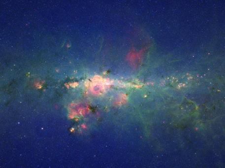 A view from the bustling center of our galactic metropolis. Spitzer Space Telescope offers us a fresh, infrared view of the frenzied scene at the center of our Milky Way, revealing what lies behind the dust.