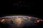 Europa aus Sicht von der ISS. (C) ESA