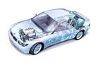 Mit flüssigem Wasserstoff betriebener Motor. Credits: BMW/Magna Steyr Aerospace