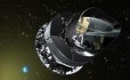 Künstlerische Ansicht vom Weltraumteleskop Planck. Quelle: DLR