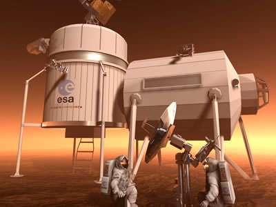 Künftige Marsmissionen der ESA werden auf künstliche Habitate auf dem Roten Planeten angewiesen sein