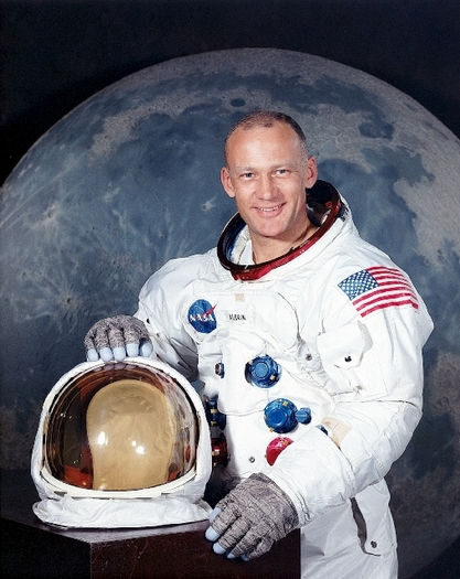 Der junge Buzz Aldrin zu Zeiten des Apollo-Programms