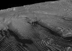 Dieser Schrägschnitt des sich wiederholenden Musters im Sedimentgestein zeigt die Gleichmäßigkeit der einzelnen Schichten besonders deutlich