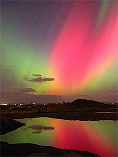 Northern lights in Sherbrooke, Quebec