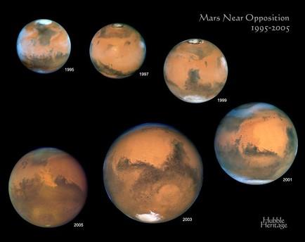 Aufnahmen des roten Planeten 1995-2005