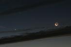 Mond bei Saturn und Venus am 16.10.2009